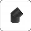 TarnaVva колено металлическое черное 45° не регулирующее