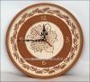 Часы настенные керамические с узором
