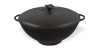 Casserole (cauldron) cast iron wok 3.5 l with lid