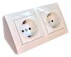 Simon (Испания) Угловой накладной блок розеток Simon CornerBox 2x220В