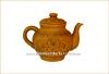 Чайник глиняный 1,8 л с лепкой глазурь арт. 305
