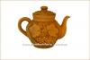 Чайник глиняный 1,8 л с лепкой глазурь арт. 304