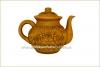 Чайник глиняный 1 л с лепкой глазурь арт. 315