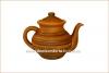 Чайник глиняный резной 1 л глазурь арт. 312