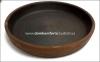 Кеца грузинская порционная сковородка из красной глины диаметром 28 см без покрытия
