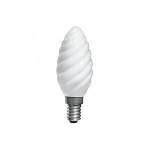 ELECTRUM Лампа свеча витая 40W E14 мат.