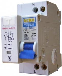 АсКо ДВ-2002 10А 30мА