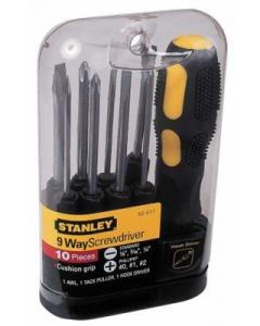 "Stanley ""10 Way Flexible"" PH1 PH2 PH3 T15 T20 No1 No2 SL7.1 SL6.3 SL4.8 0-62-511"
