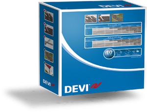 """Devi Набор для системы """"Теплый пол"""" с нагревательным кабелем, монтажной лентой и гфротрубкой"""