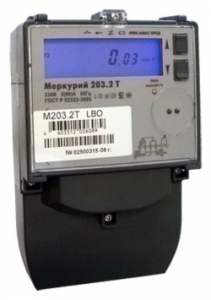 ООО «НПК «Инкотекс» Счетчик электрической энергии однофазный многотарифный Меркурий 203.2T LBO