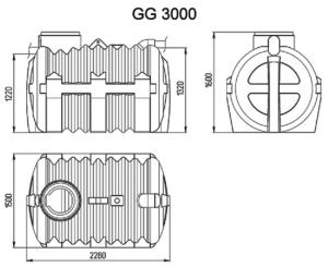 Септик 3000(корзина, крышка)