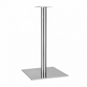 Мир мебели Основа для стола из нержавеющей стали Турино Inox 400/C60 (опора для стола, подстолье, основание для стола, база для стола)