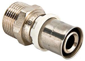 Valtec Пресс-соединитель для металлополимерных труб VTm.201 соединитель прямой НР 20х1/2