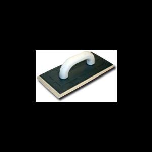 Терка пластиковая с резиновой подкладкой  для штукатурки и фугования (артикул 3076) 130х270 мм / 6 мм