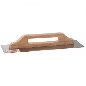 Терка нержавеющая 130х600 мм с деревянной ручкой
