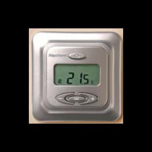 Raychem Термостат R-TC-NRG-S, ЖК дисплей с подсветкой, программируемый, регулирование по температуре пола / воздуха, адаптивный, два в одном, серебристый