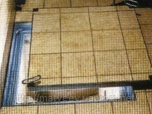 """VS Group Ревизионный люк  напольный  заполняемый """"Light"""" со съемной крышкой и резиновыми уплотнителями 200х200 мм"""