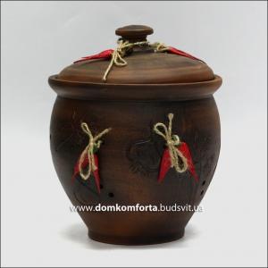 Макитра глиняная для хранения лука, чеснока