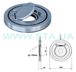 Клапаны-хлопушки обратные чугунные межфланцевые 100мм РУ16