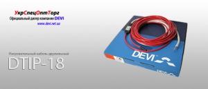 Devi Нагревательный кабель двухжильный Deviflex DTIP-18: 37 м для теплого пола;