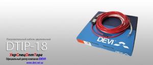 Нагревательный кабель двухжильный Deviflex DTIP-18: 118 м для теплого пола;