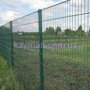 ПГ Кайман Забор металлический из сварных панелей с диаметром прута 4+4+4 мм.