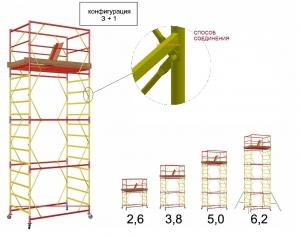 Вышка-тура передвижная 1.6x0.8 м