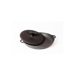 СИТОН Сковорода-гриль чугунная с прессом 340х40 мм