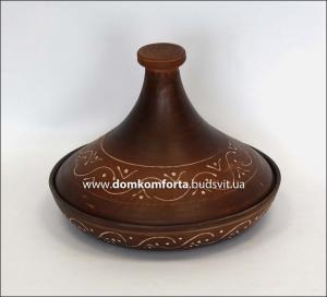 Тажин (таджин) малый  0,600л глиняный (гончарка)