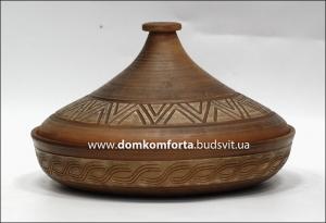 Тажин (таджин) большой  глиняный (гончарка)