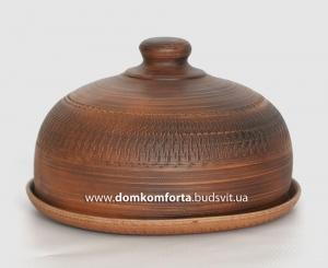"""Блюдо глиняное с крышкой """"Баранчик"""" (декор)"""