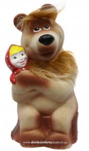 """Копилка """"Маша и медведь"""" гипсовая флокированная"""