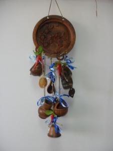 Оберег глиняный - тарелка лепная + 6 предметов