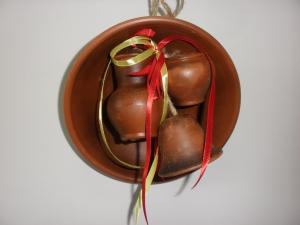 Оберег глиняный - тарелка гончарная + 3 предмета
