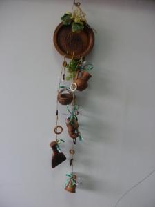 Оберег глиняный - тарелка декор + 6 предметов