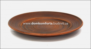 Тарелка глиняная гладкая d=25 см.