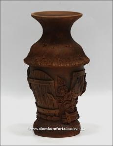 Ваза глиняная большая (литье, украинская лепка)