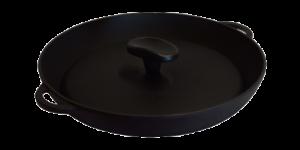 СИТОН Сковорода-гриль чугунная 260х40 мм с прессом