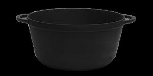 SITON Кастрюля чугунная 2 л с крышкой-сковородой