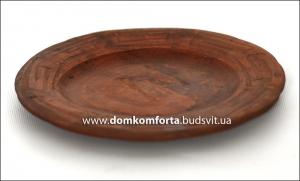 Тарелка глиняная 23 см (резная, гончарка)