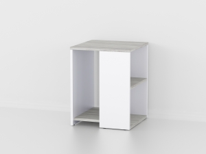 Приставной стол в цвете белый/бетон