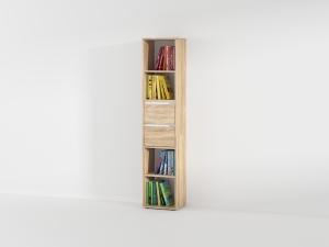 Книжная полка с 2 выдвижными ящиками в цвете дуб сонома