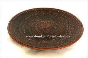 Тарелка глиняная плоская 250 мм
