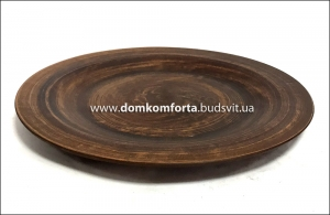 Тарелка глиняная плоская 280 мм
