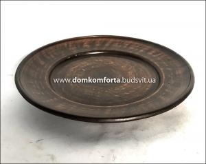 Тарелка глиняная гладкая 20 см