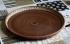 Блюдо глиняное плоское ангоб 33 см.