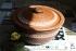 Сковорода глиняная 26 см с крышкой 2 литра ангоб
